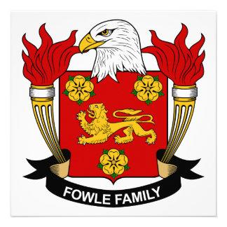 Escudo de la familia de Fowle Anuncio Personalizado