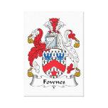 Escudo de la familia de Fownes Impresiones En Lona