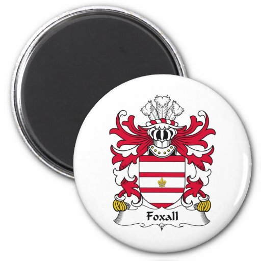 Escudo de la familia de Foxall Imanes Para Frigoríficos