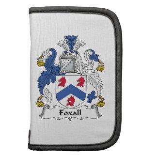 Escudo de la familia de Foxall Planificador