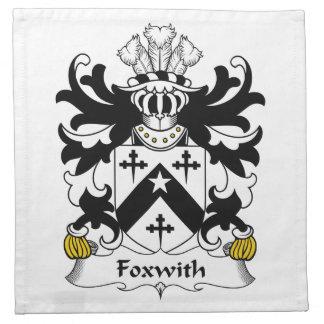 Escudo de la familia de Foxwith Servilleta De Papel