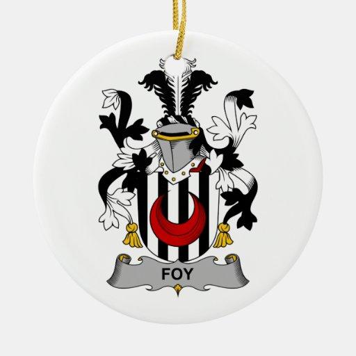 Escudo de la familia de Foy Ornamentos Para Reyes Magos