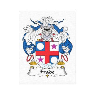 Escudo de la familia de Frade Lienzo Envuelto Para Galerías
