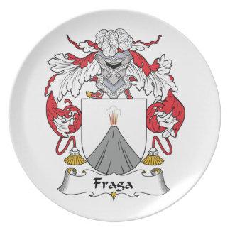 Escudo de la familia de Fraga Platos Para Fiestas