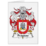 Escudo de la familia de Fraguas Felicitacion