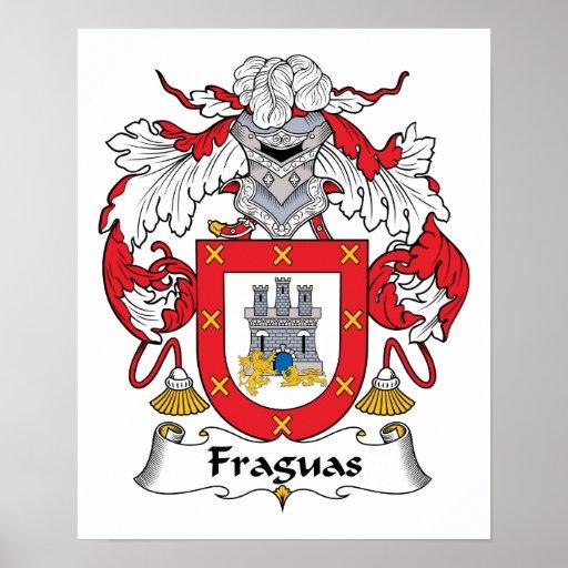 Escudo de la familia de Fraguas Posters