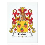 Escudo de la familia de Fraisse Invitación 16,5 X 22,2 Cm