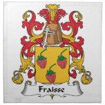 Escudo de la familia de Fraisse Servilleta Imprimida