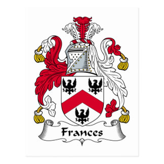 Escudo de la familia de Frances Tarjeta Postal