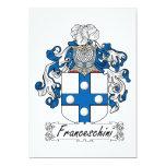 Escudo de la familia de Franceschini Invitación 12,7 X 17,8 Cm