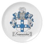 Escudo de la familia de Franceschini Platos Para Fiestas