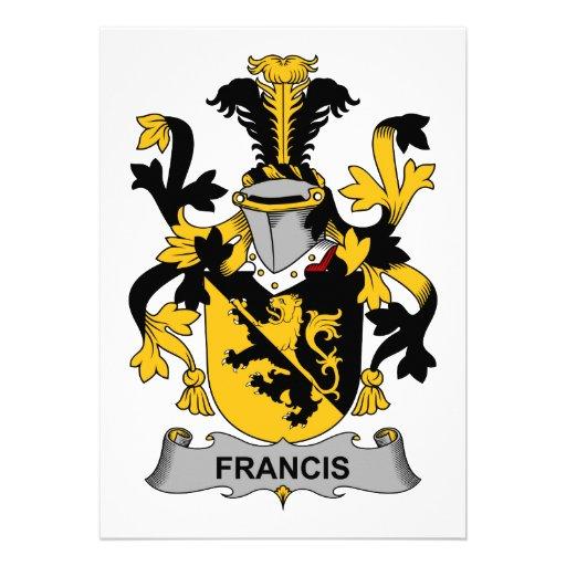 Escudo de la familia de Francisco Comunicado Personalizado