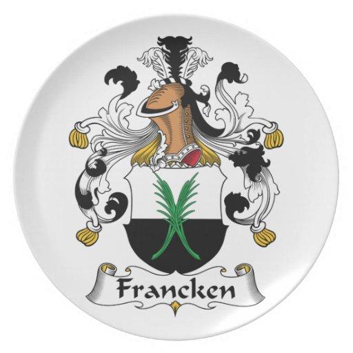 Escudo de la familia de Francken Platos De Comidas