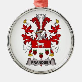 Escudo de la familia de Frandsen Adorno Navideño Redondo De Metal