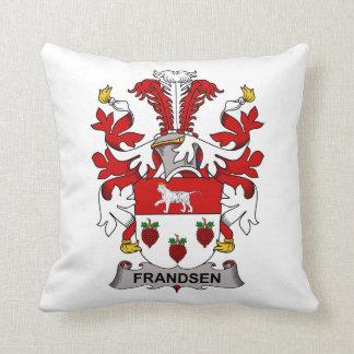 Escudo de la familia de Frandsen Almohadas