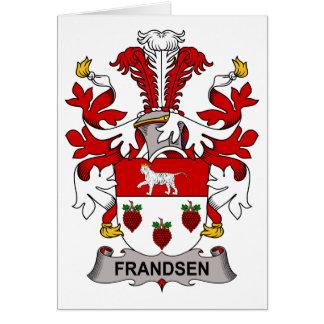 Escudo de la familia de Frandsen Tarjeta De Felicitación