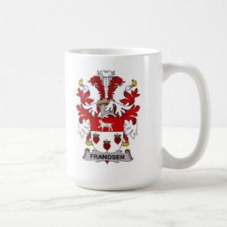 Escudo de la familia de Frandsen Tazas De Café