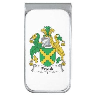 Escudo de la familia de Frank Clip Para Billetes Plateado