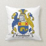 Escudo de la familia de Frankland Almohada