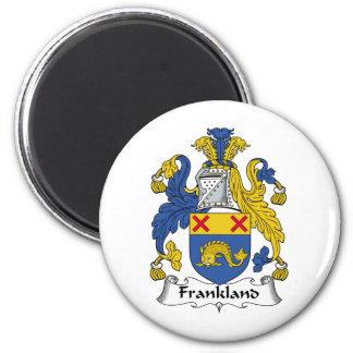 Escudo de la familia de Frankland Imán Redondo 5 Cm