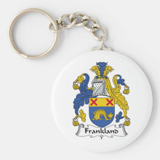 Escudo de la familia de Frankland Llavero Redondo Tipo Pin