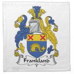 Escudo de la familia de Frankland Servilletas