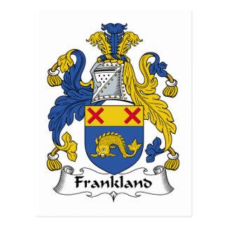 Escudo de la familia de Frankland Tarjeta Postal