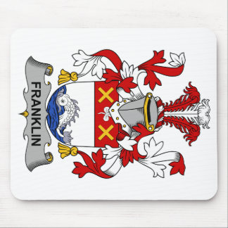 Escudo de la familia de Franklin Tapetes De Raton