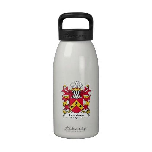Escudo de la familia de Frankton Botella De Agua