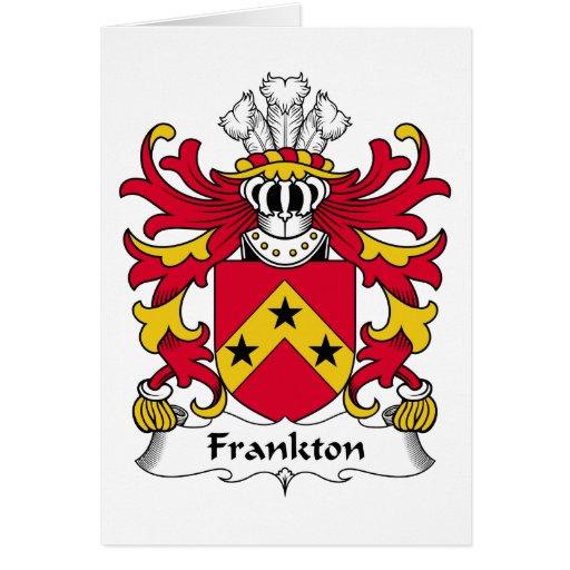 Escudo de la familia de Frankton Tarjeta De Felicitación