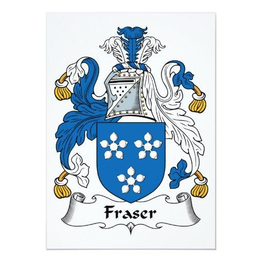 Escudo de la familia de Fraser Invitacion Personalizada