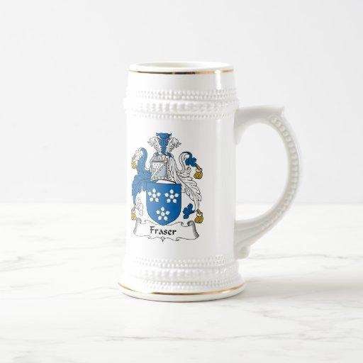 Escudo de la familia de Fraser Tazas De Café