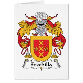 Escudo de la familia de Frechillo Tarjeta De Felicitación