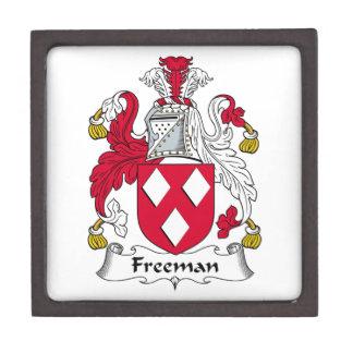 Escudo de la familia de Freeman Cajas De Recuerdo De Calidad