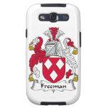 Escudo de la familia de Freeman Galaxy SIII Cobertura