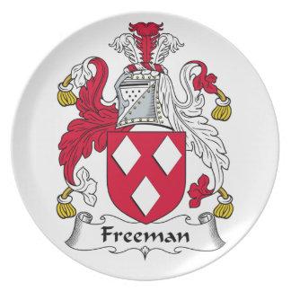 Escudo de la familia de Freeman Platos
