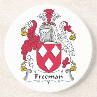 Escudo de la familia de Freeman Posavasos Manualidades