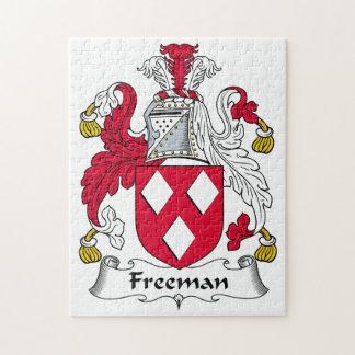 Escudo de la familia de Freeman Puzzles