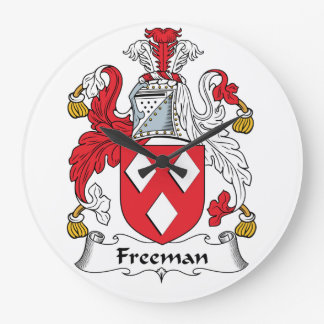 Escudo de la familia de Freeman Reloj Redondo Grande