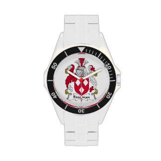 Escudo de la familia de Freeman Relojes De Pulsera