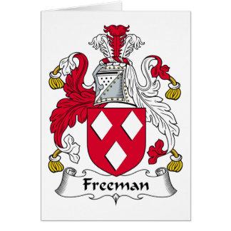 Escudo de la familia de Freeman Tarjeta