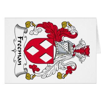 Escudo de la familia de Freeman Tarjeta De Felicitación