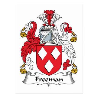 Escudo de la familia de Freeman Tarjeta Postal