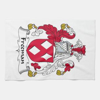 Escudo de la familia de Freeman Toallas De Mano