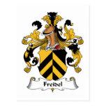 Escudo de la familia de Freidel Tarjetas Postales
