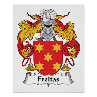 Escudo de la familia de Freitas Póster