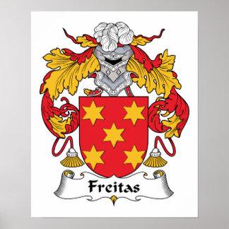 Escudo de la familia de Freitas Posters