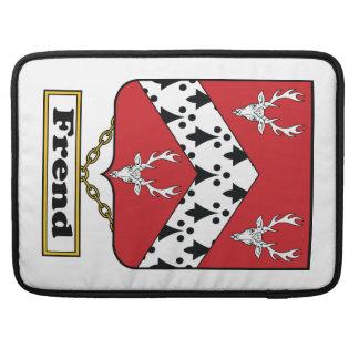 Escudo de la familia de Frend Fundas Para Macbooks
