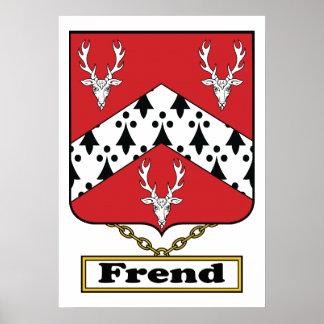 Escudo de la familia de Frend Poster