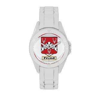 Escudo de la familia de Frend Reloj De Mano